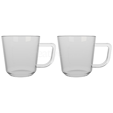 La Cafetiere Brygga Set Of 2 300Ml Single Walled Glasses