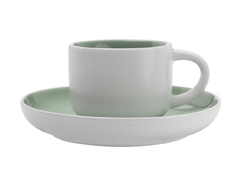 Maxwell & Williams Tint Demi 100Ml Cup And Saucer Mint