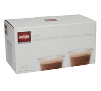 La Cafetiere Jack Set Of 2 Double Walled Glass Cappuccino Cups