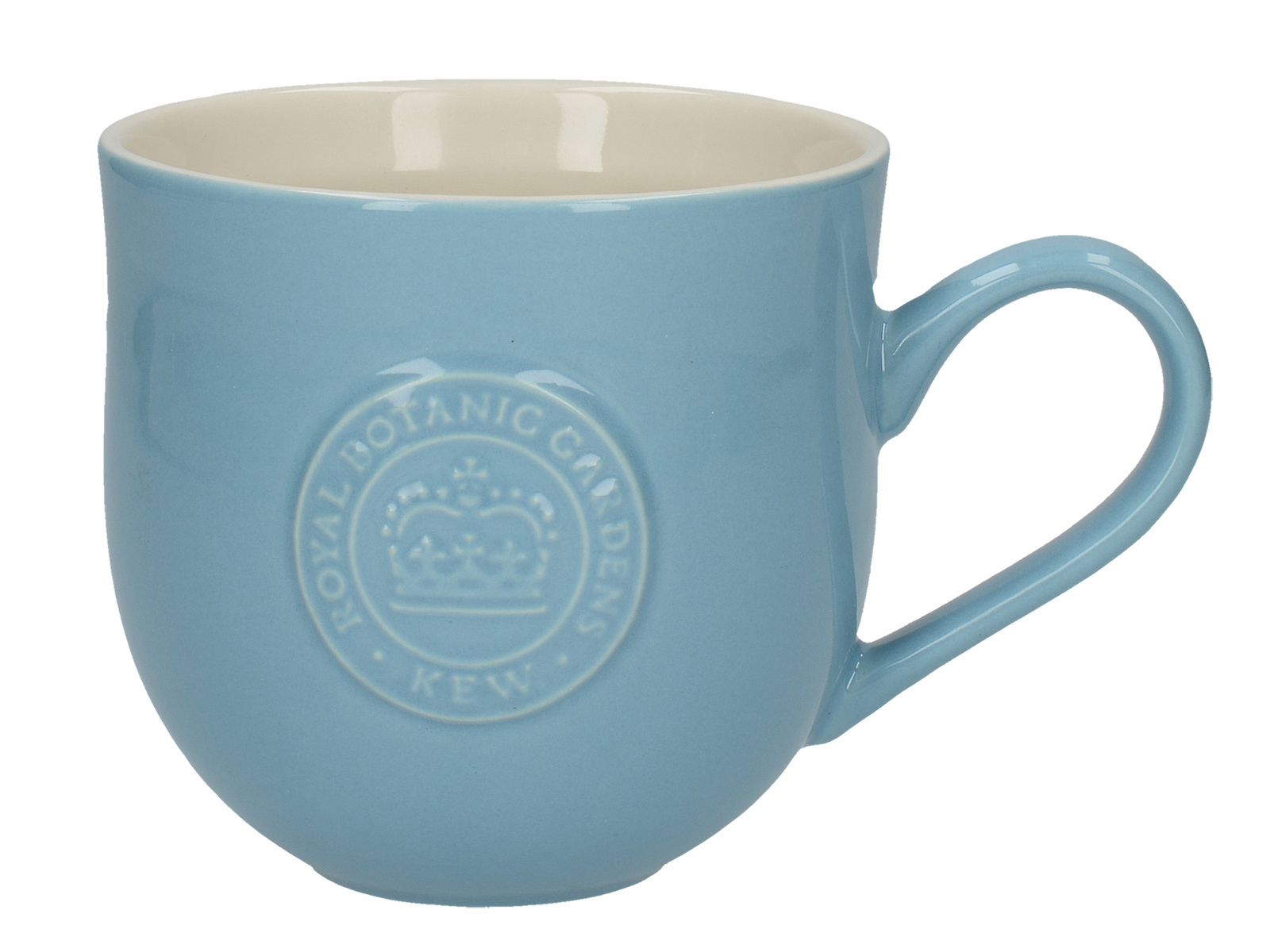 Kew Gardens Richmond Embossed Logo Mug Light Blue