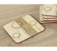 Creative Tops Natural Simplicity Pack Of 6 Premium Coasters
