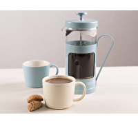 La Cafetiere 8 Cup Monaco And 2 Cups Blue And Cream