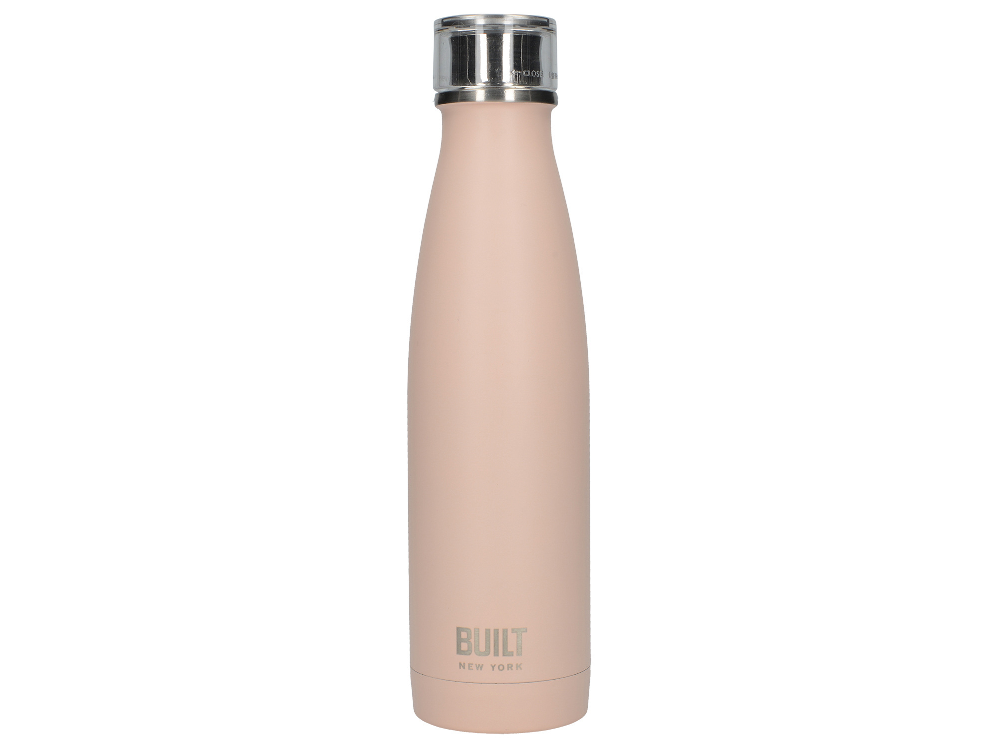 Built 17Oz Double Walled Stainless Steel Water Bottle Pale Pink