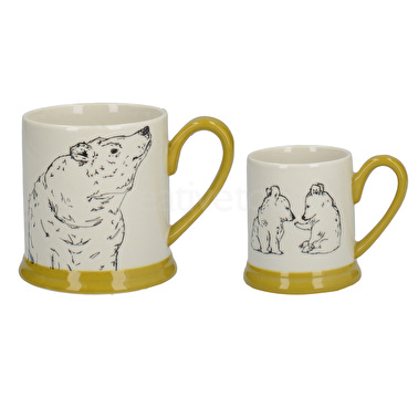 Creative Tops Into The Wild Little Explorer Bear Set Of 2 Mugs