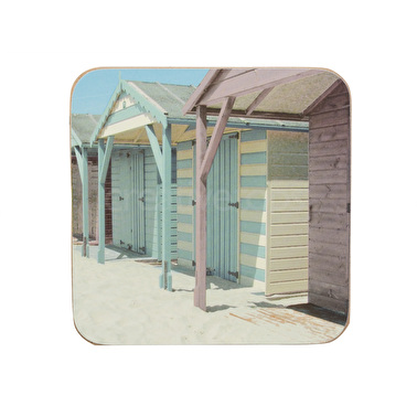 Everyday Home Photographic Beach Huts Pack Of 4 Coasters