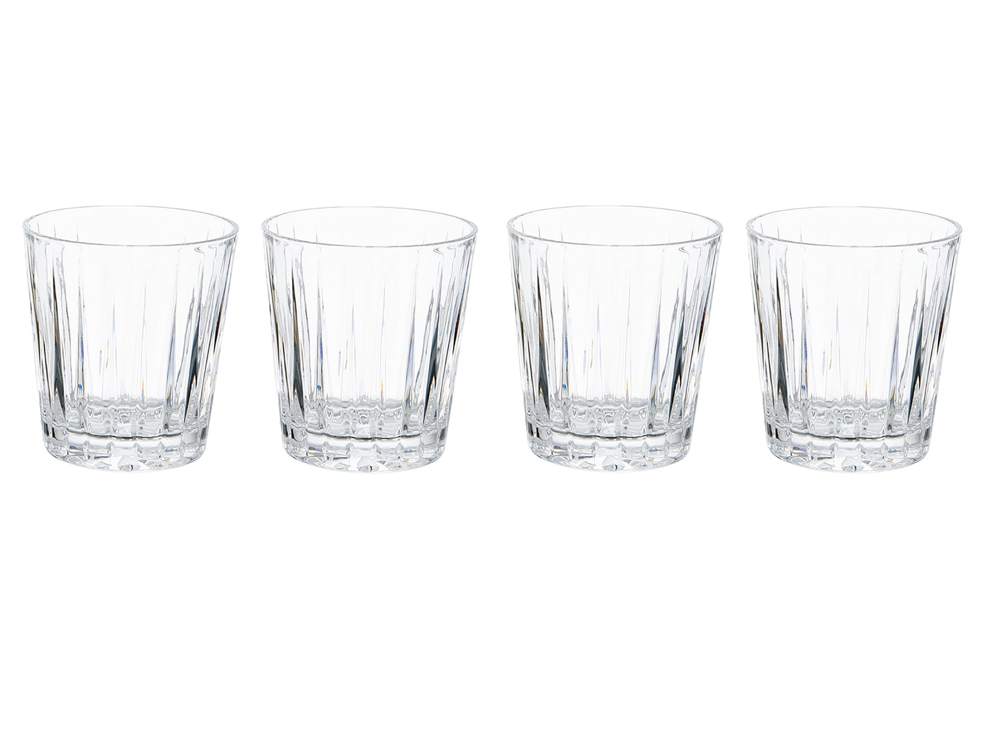 Mikasa Revel Set Of 4 12Oz Double Old Fashioned Glasses