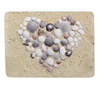 Everyday Home Shell Heart Pack Of 4 Placemats