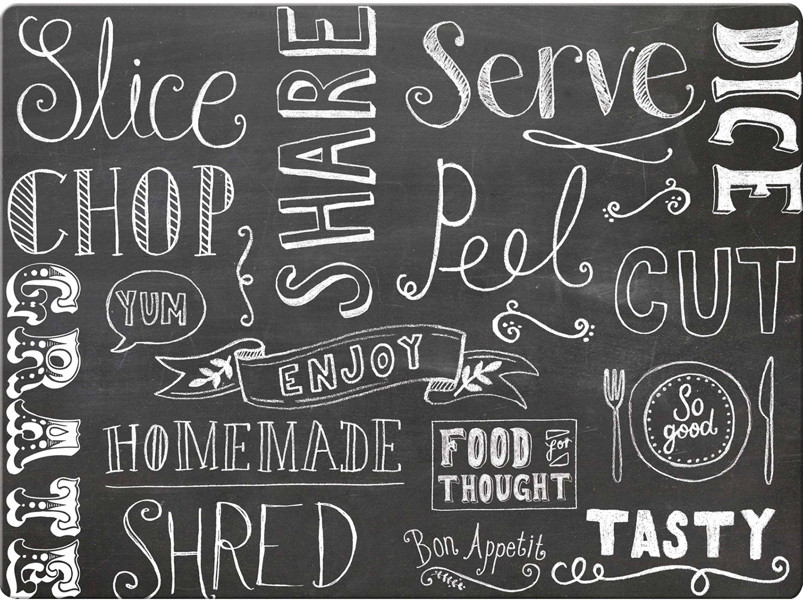 Everyday Home Chalkboard Work Surface Protector