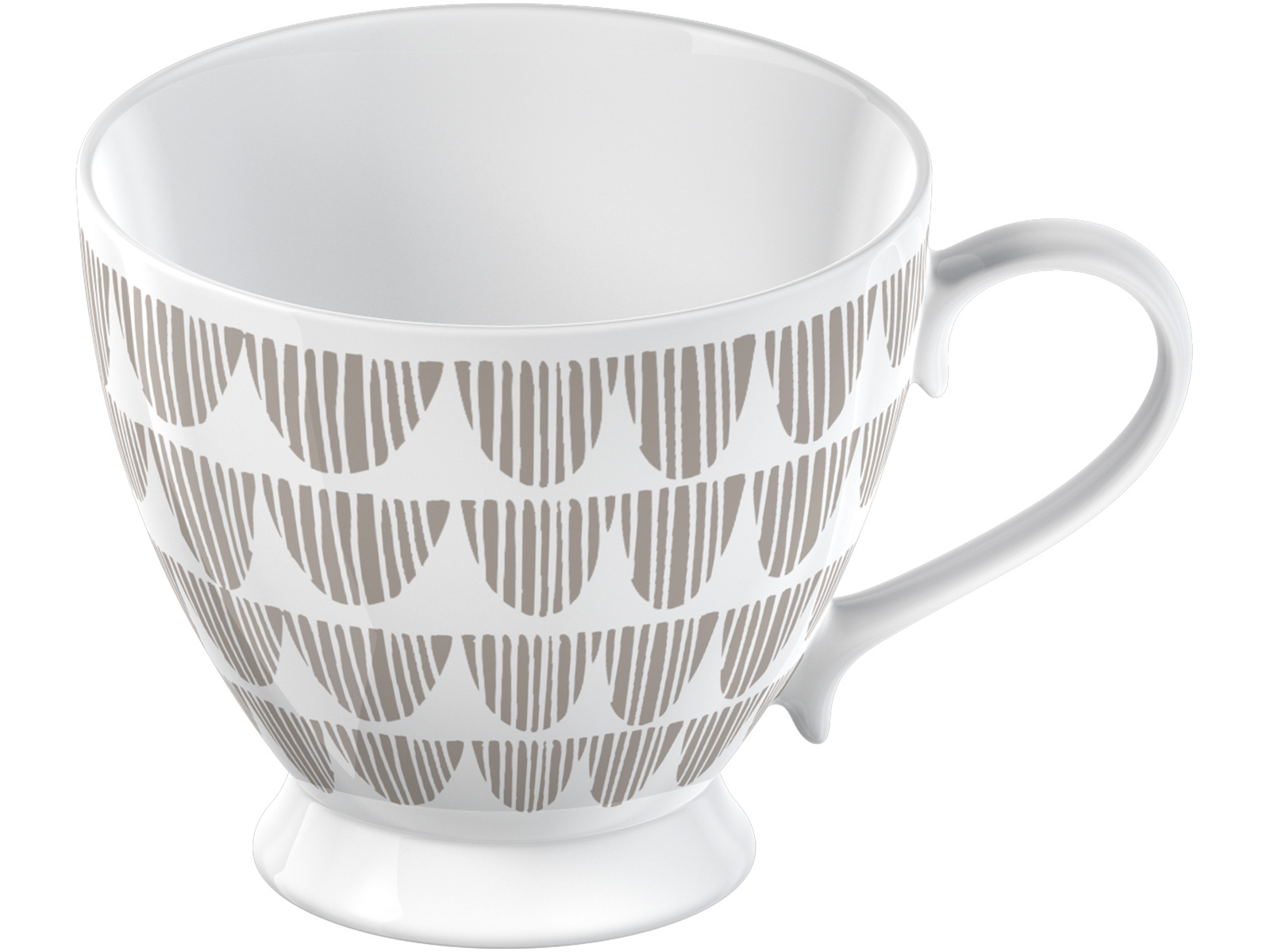 La Cafetiere Taupe Bunting Footed Mug
