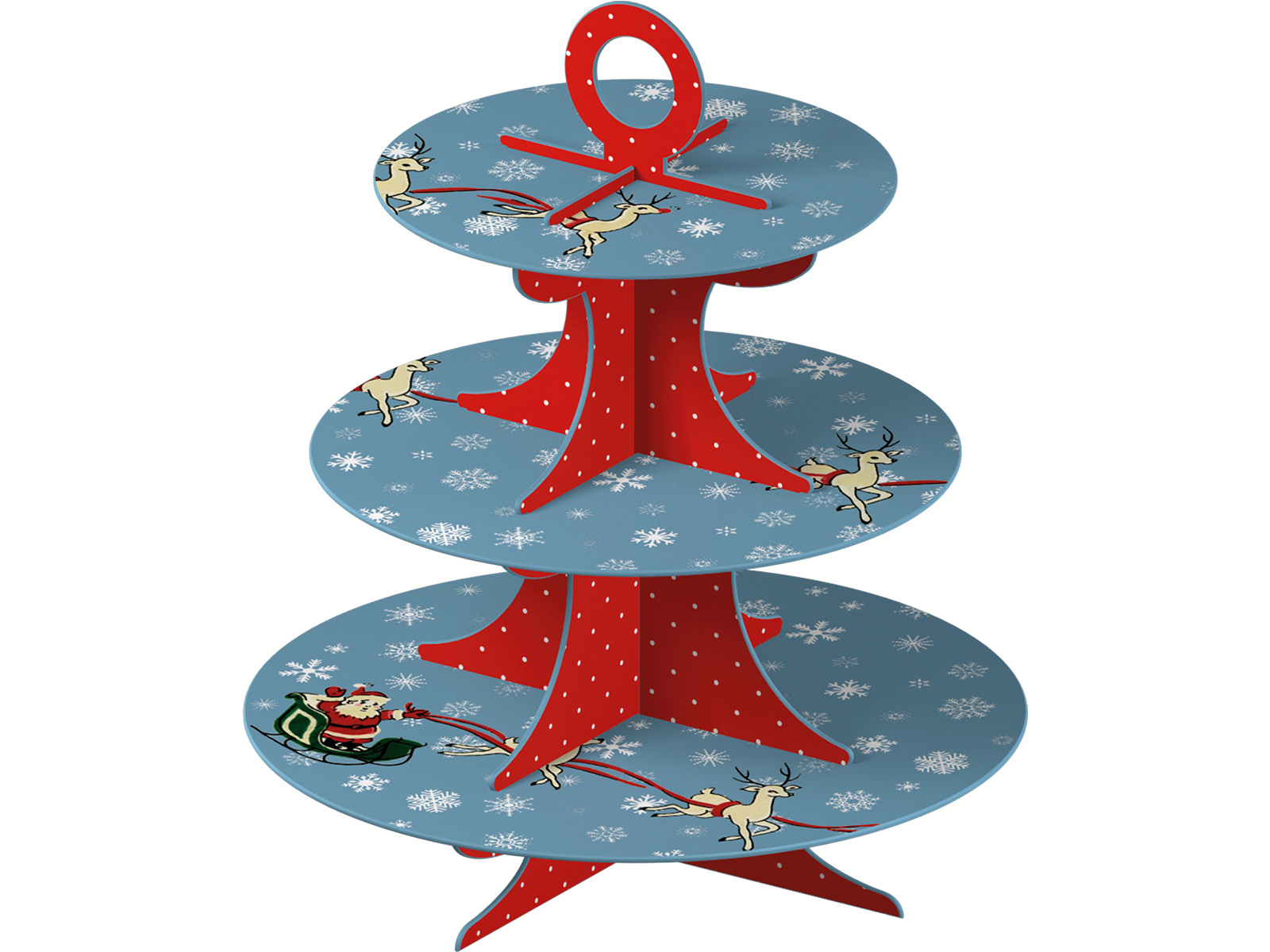 Katie Alice Yuletide Sleighride Card Cake Stand