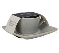 Mikasa Gourmet Basics Home Espresso Cup And Saucer Grey
