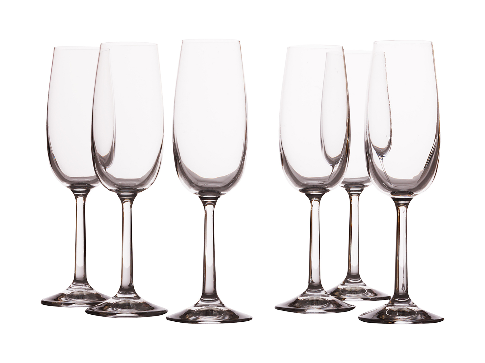 Casa Domani Evolve Set Of 6 170Ml Flute Glasses