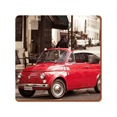 Everyday Home Retro Fiat Pack Of 4 Coasters