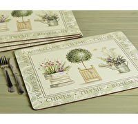 Creative Tops Topiary Pack Of 4 Large Premium Placemats