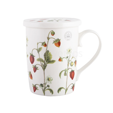 Kew Gardens Strawberry Fayre Mug Coaster And Infuser