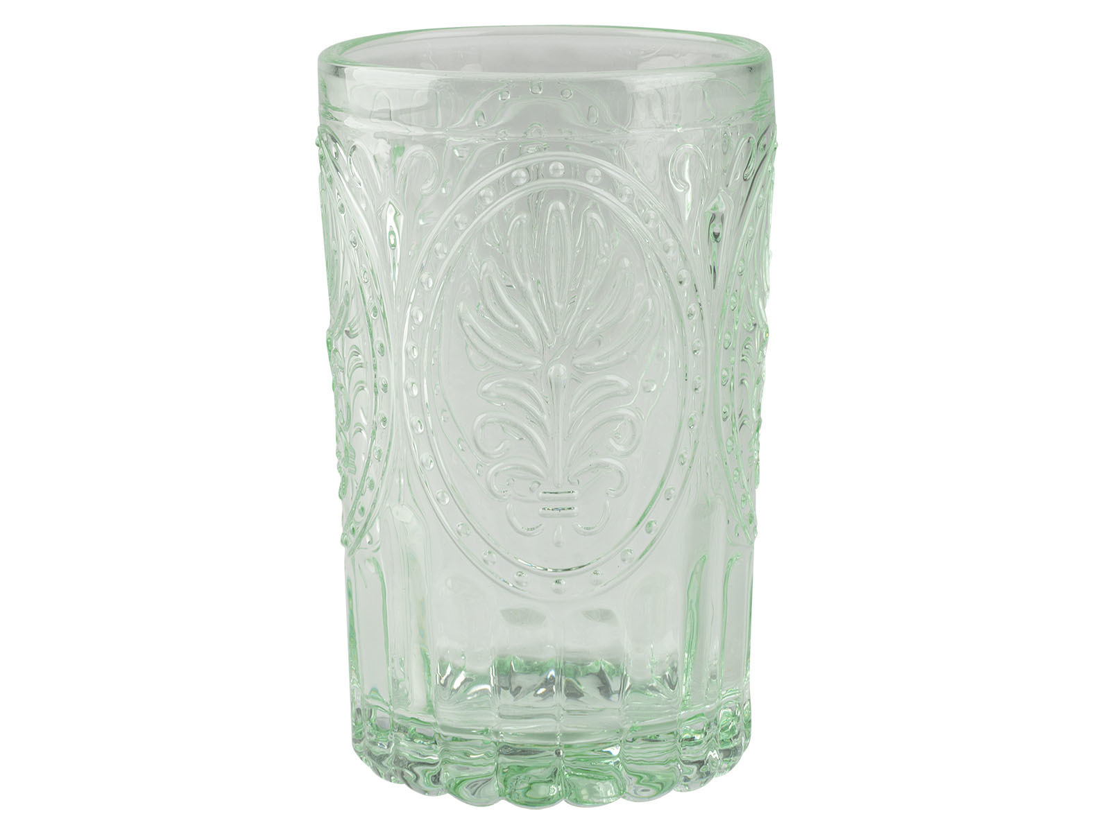 Katie Alice Festival Folk Glass Tumbler Green