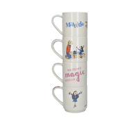 Roald Dahl Matilda Set Of 4 Stacking Mugs
