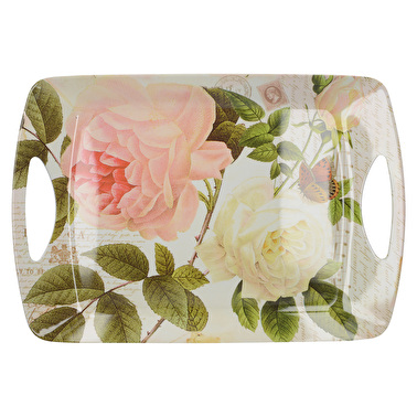 Creative Tops Rose Garden Large Luxury Handled Tray