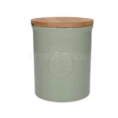 Kew Gardens Richmond Embossed Logo Storage Jar Green