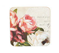 Everyday Home Postcard Floral Pack Of 4 Coasters