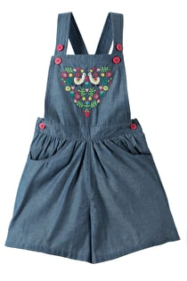 Cara Chambray Culotte Dungaree