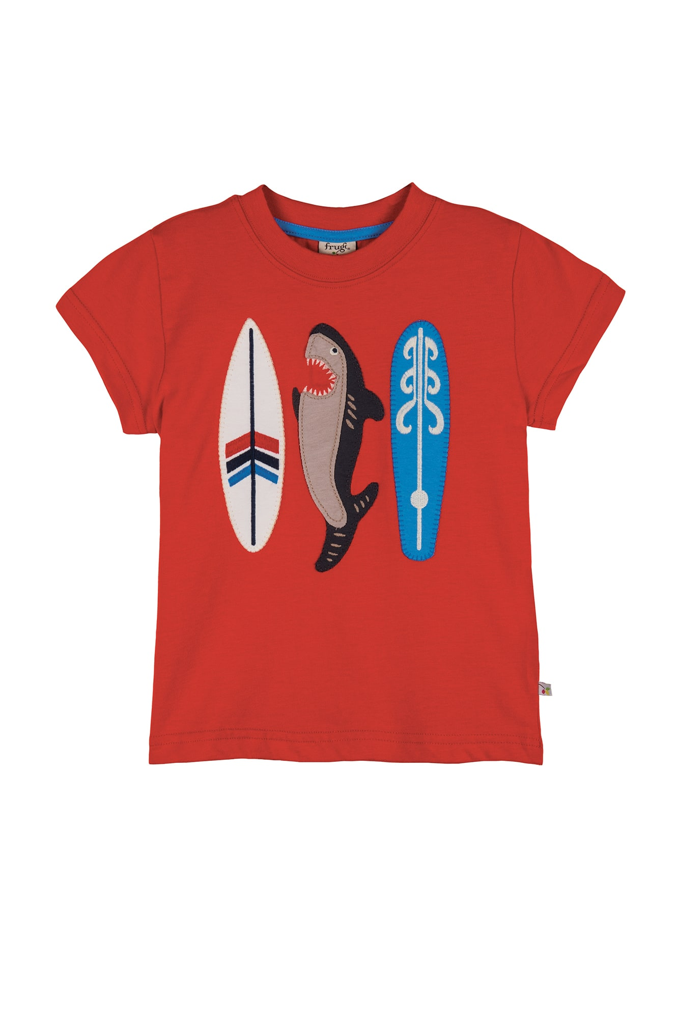 Beach applique t shirt tomato shark surfboards tops for Applique shirts for sale