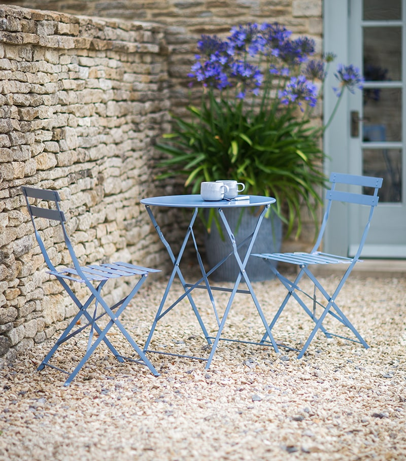Bistro Set in blue
