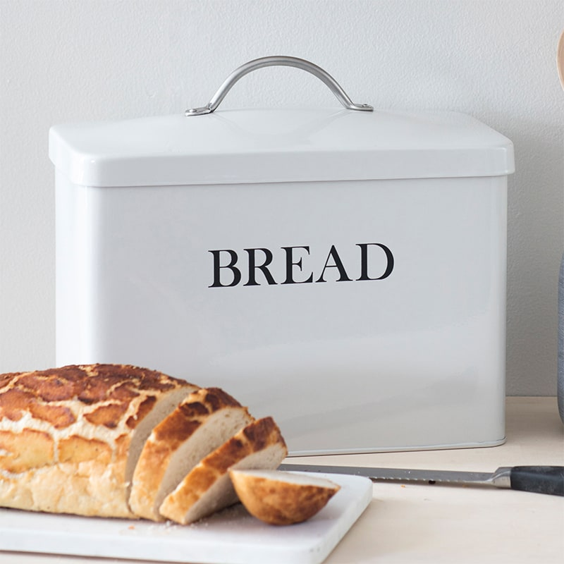 Bread Bin in Chalk