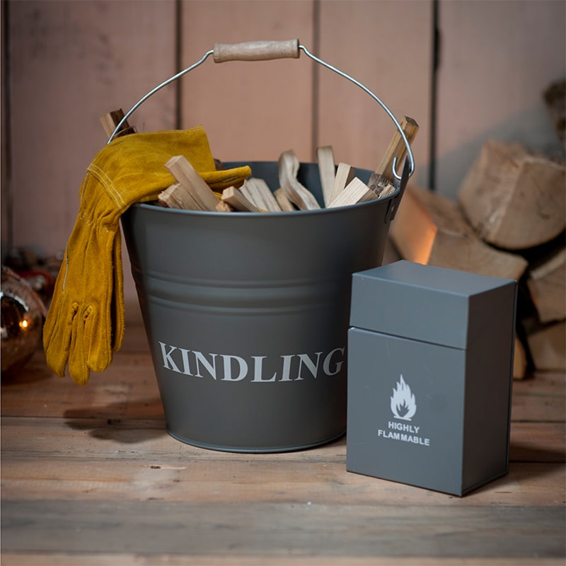 Kindling Bucket and match Box