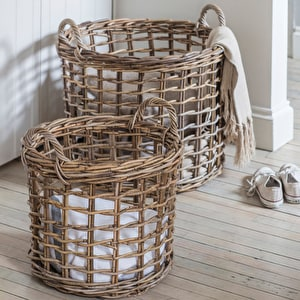 Set of 2 Open Weave Baskets