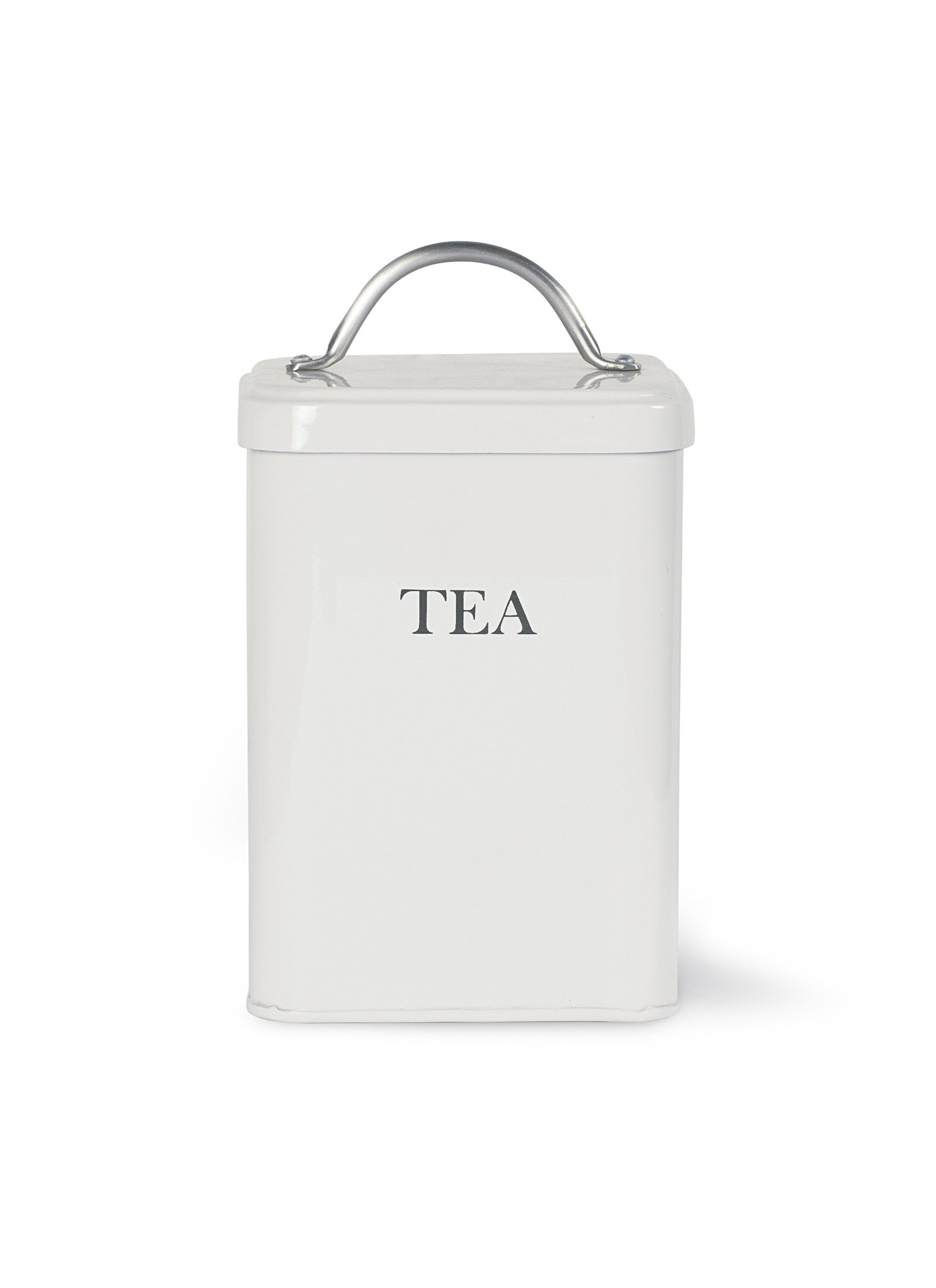 Steel Tea Canister in Grey or White  | Garden Trading