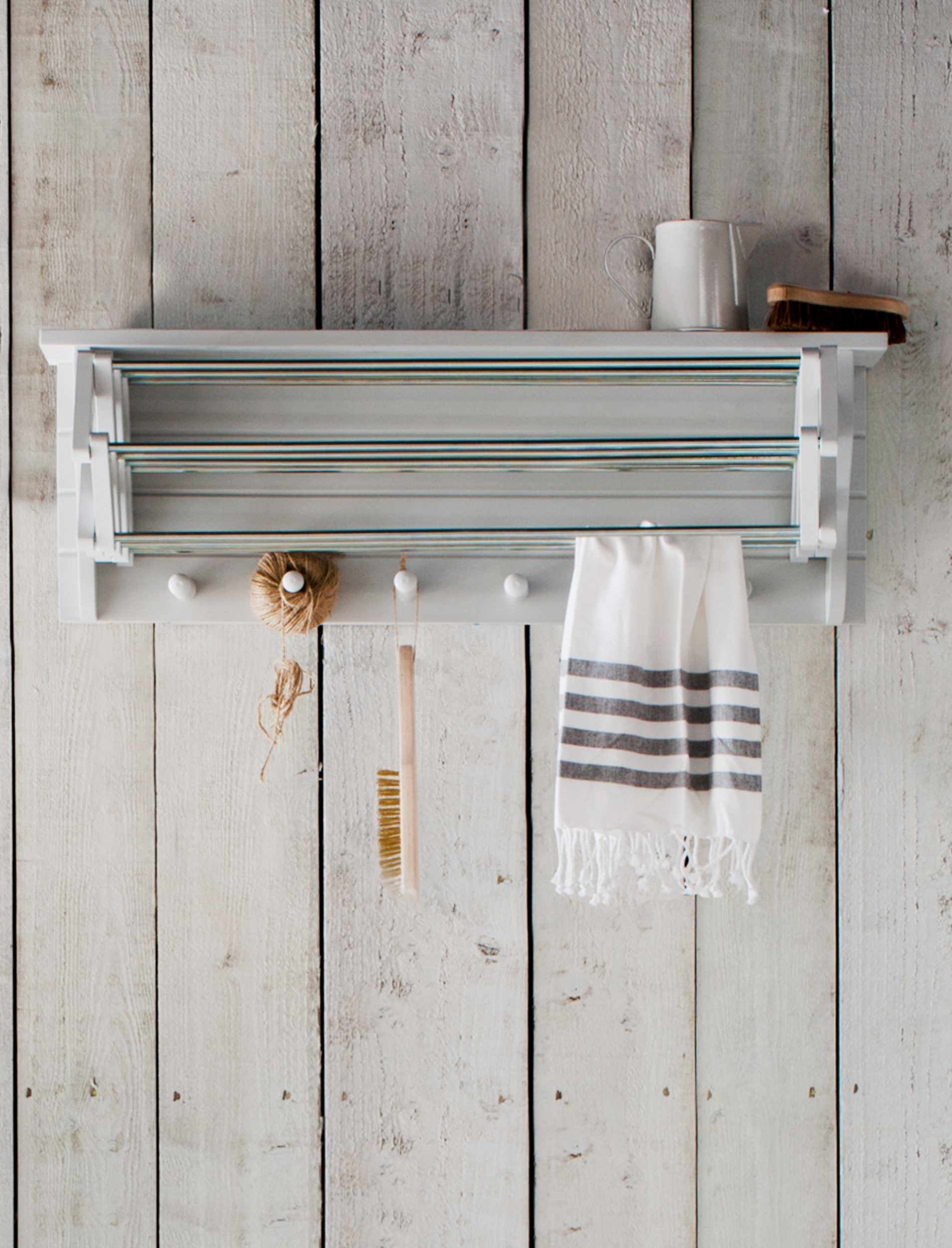 Wooden Extending Clothes Dryer in White or Grey   Garden Trading