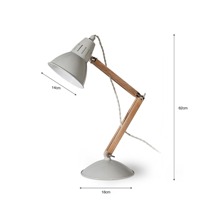 Oak Bermondsey Table Light in White or Black | Garden Trading