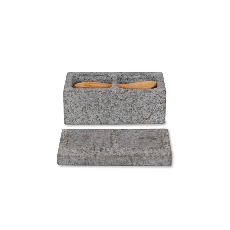 Granite Salt and Pepper Pinch Pot | Garden Trading
