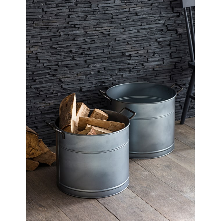 Galvanised Steel Bucket in Small or Large | Garden Trading