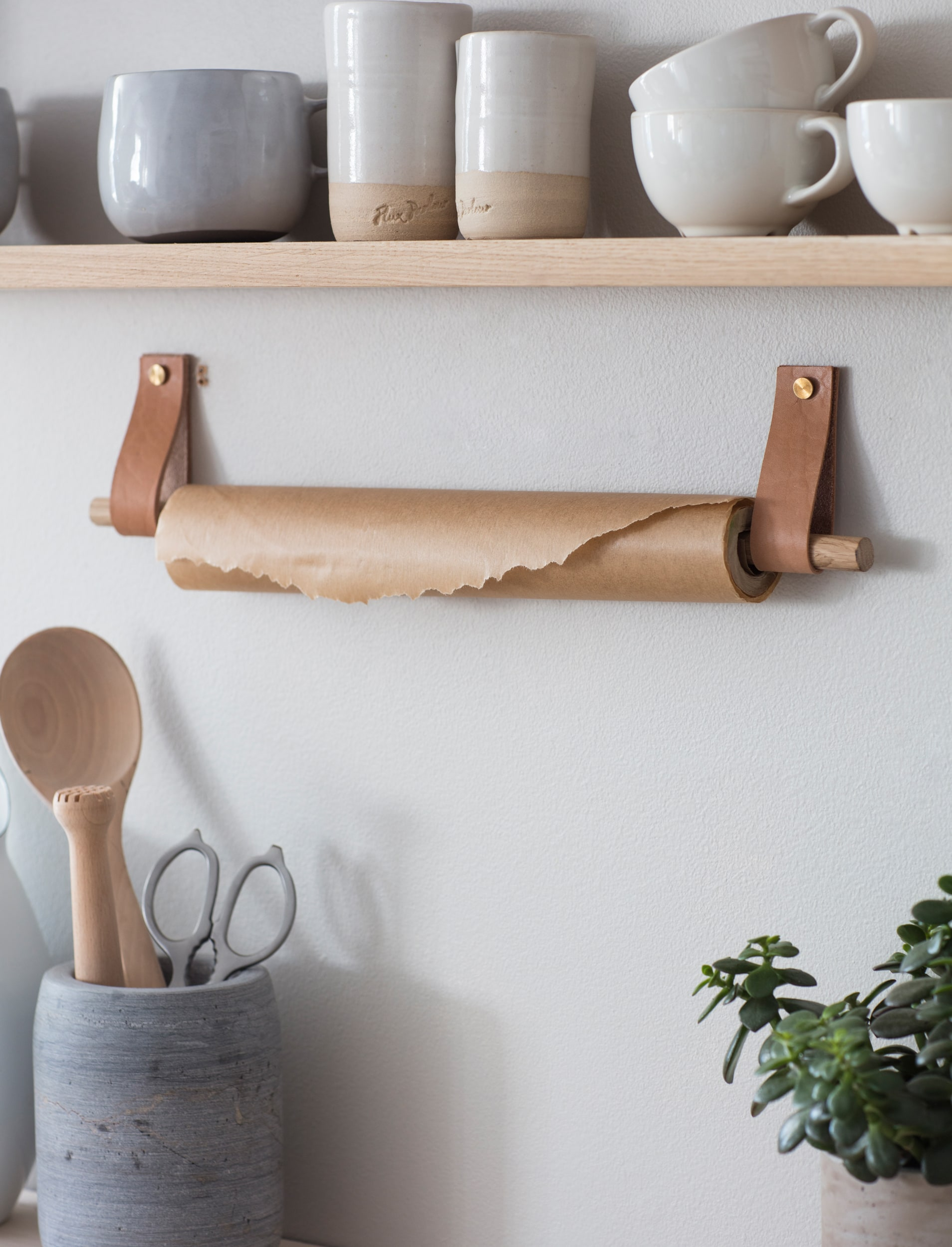 Oak and Leather Kelston Towel Rail | Garden Trading