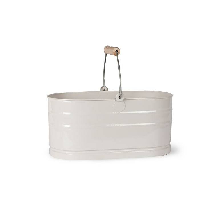 Steel Utility Bucket in White or Blue  | Garden Trading