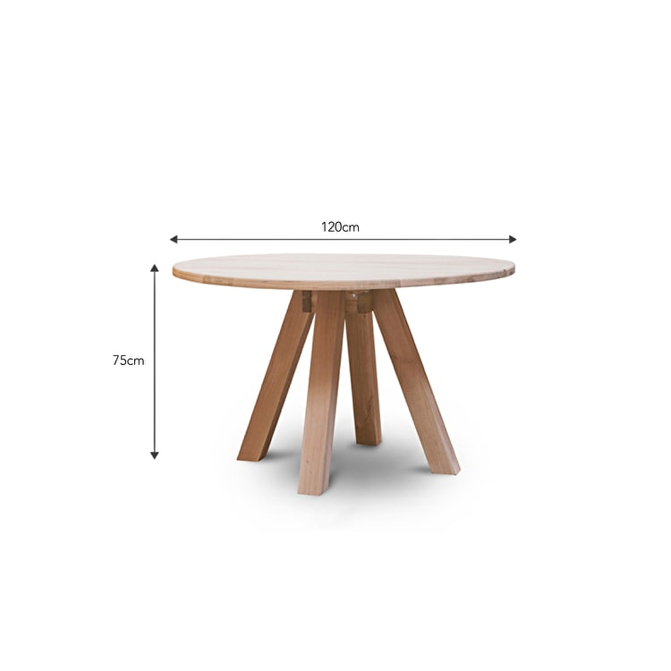 Oak Round Dining Table In Brown Or Black Garden Trading