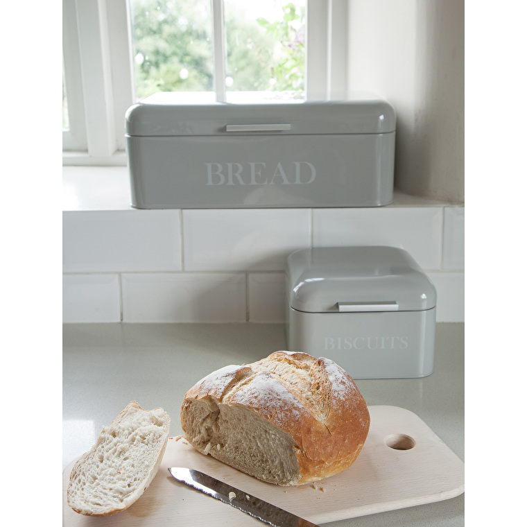 Steel Bread Bin in Grey  | Garden Trading