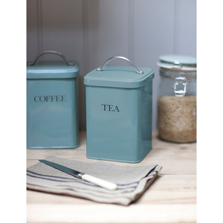 Steel Tea Canister in Blue  | Garden Trading