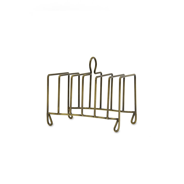 Antique Brass Brompton Toast Rack | Garden Trading