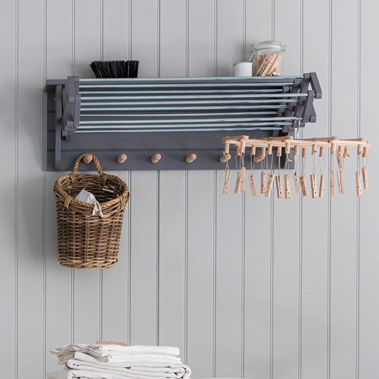 Wooden Extending Clothes Dryer in White or Grey | Garden Trading