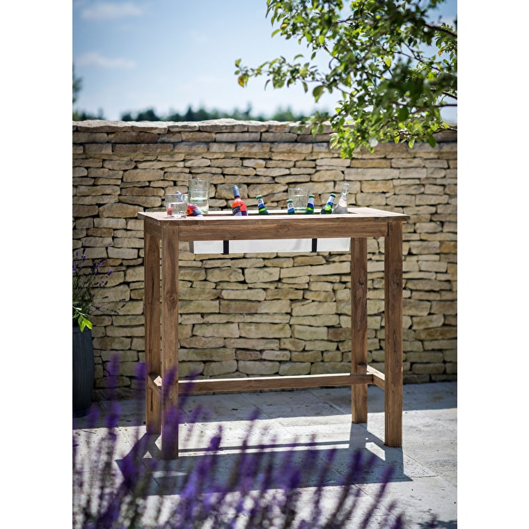 Teak St Mawes Outdoor Drinks Planter Bar Table in Small or Large | Garden Trading