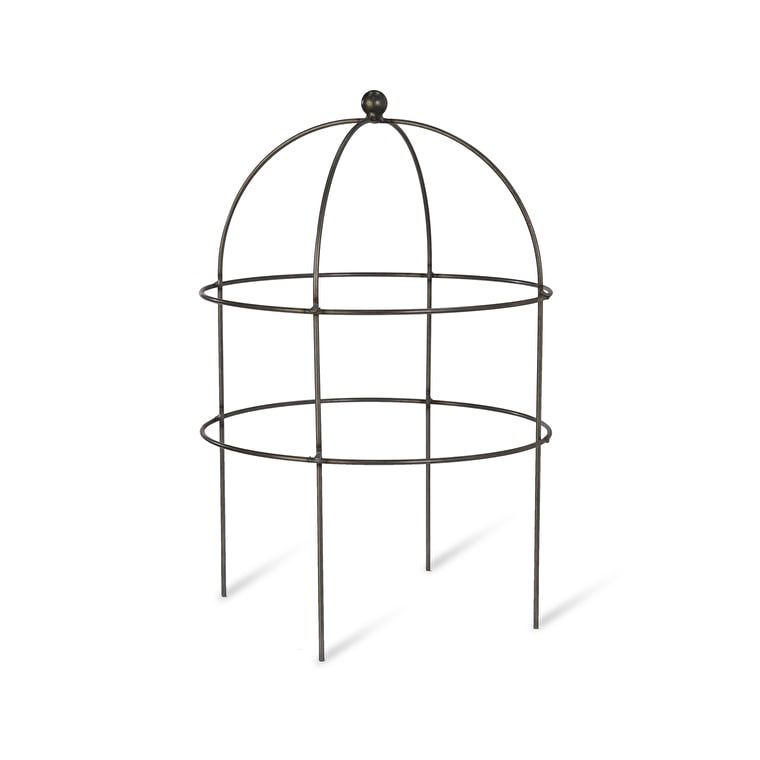 Raw Metal Domed Barrington Plant Support in Small or Large  | Garden Trading