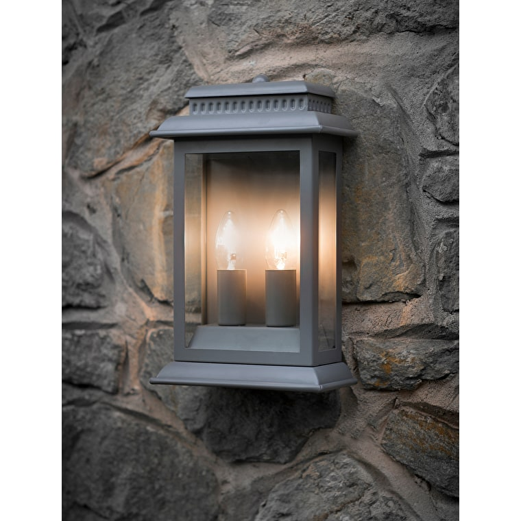 Belvedere Outdoor Wall Light in Grey, Black or Bronze | Garden Trading
