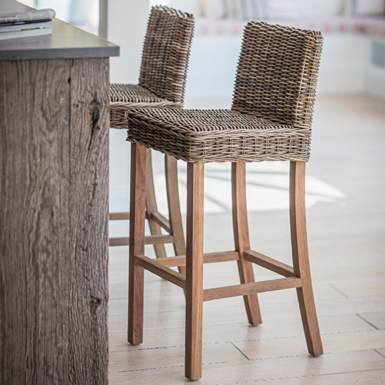 Indoor Rattan Bembridge Bar Stool  | Garden Trading