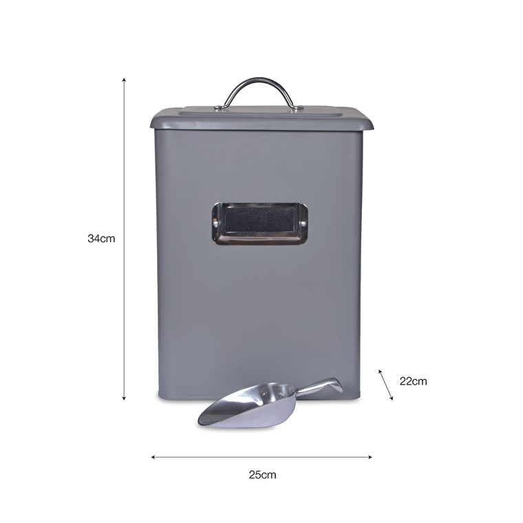 Steel Pet Bin in Grey in Small, Medium or Large | Garden Trading