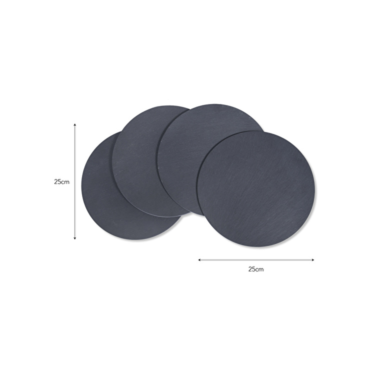 Slate Set of 4 Placemats in Round or Rectangular | Garden Trading