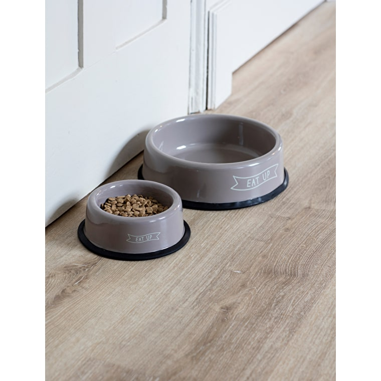 Steel Eat Up Pet Bowl in Brown in Small or Large  | Garden Trading