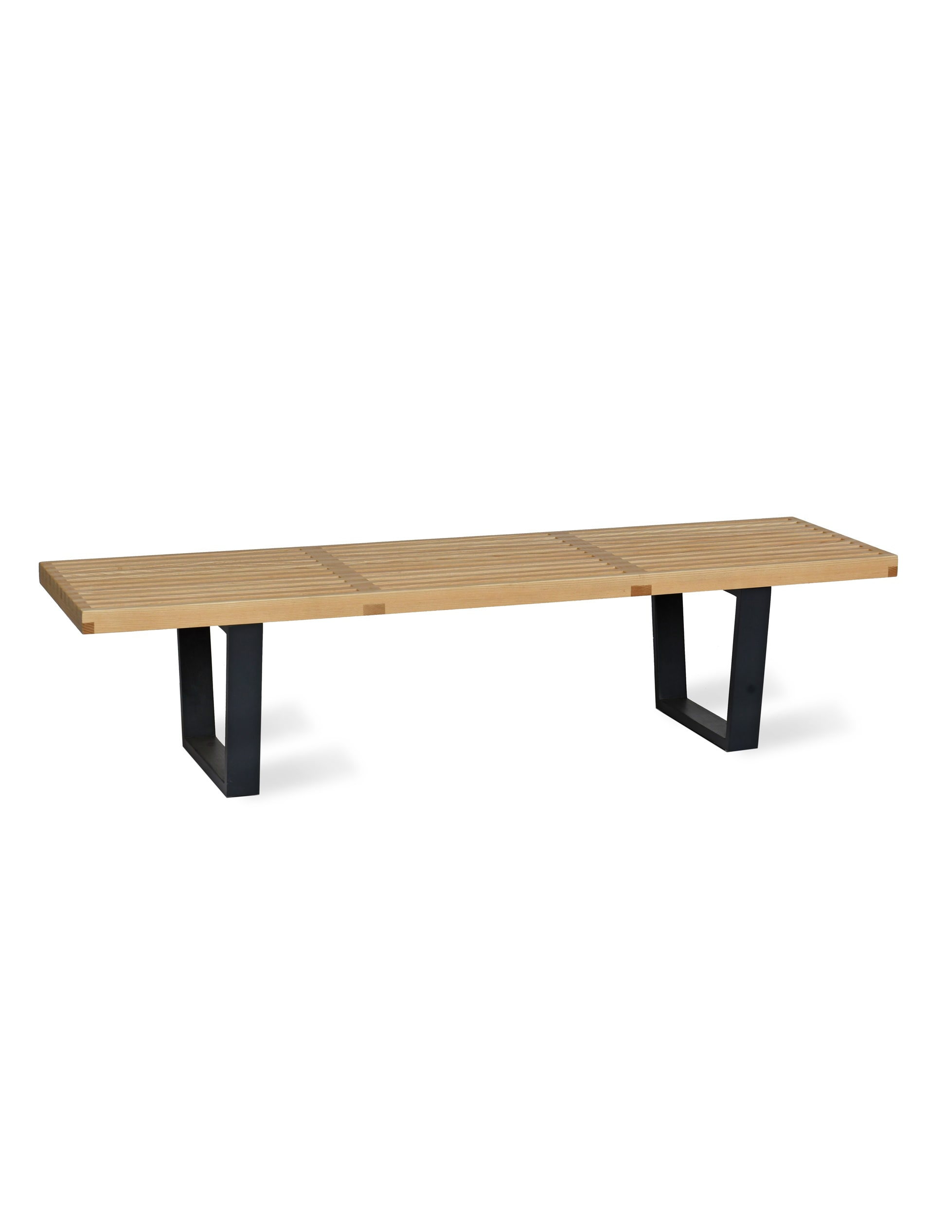 Wooden Linear Hallway Bench in Black | Garden Trading